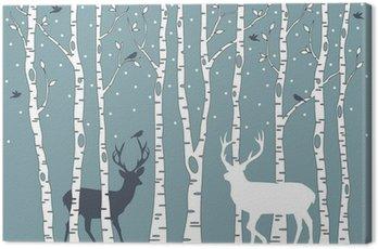 Obraz na Płótnie Brzozy z jelenia, wektor tle