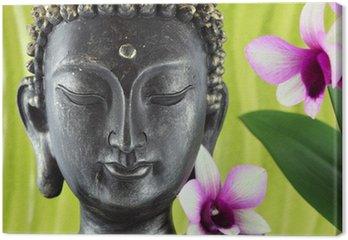 Obraz na Płótnie Budda i kwiat orchidei