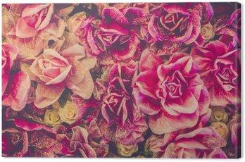 Obraz na Płótnie Bukiet róż tła. Filtr Retro