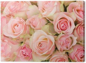 Obraz na Płótnie Bukiet z różowych róż