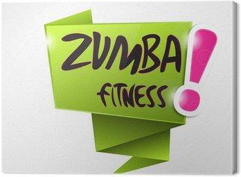 Obraz na Płótnie Bulle origami: Zumba Fitness!