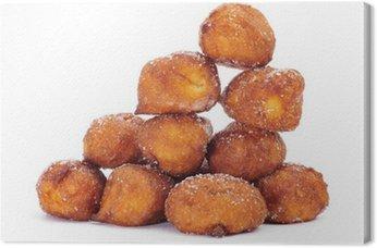 Obraz na Płótnie Bunuelos de Viento, typowe wypieki z Hiszpanii, jedzone w Wielki Post