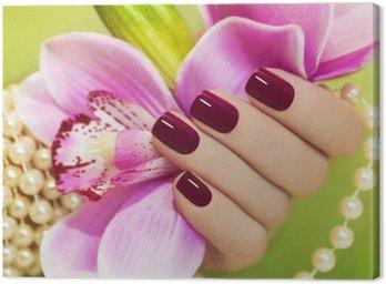 Obraz na Płótnie Burgundia manicure.