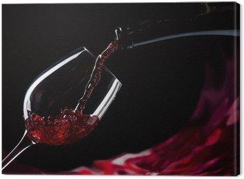 Obraz na Płótnie Butelki i szklanki czerwonego wina