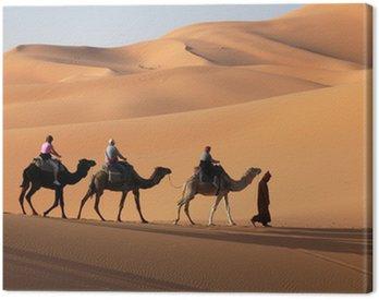 Obraz na Płótnie Camel Caravan w Sahary