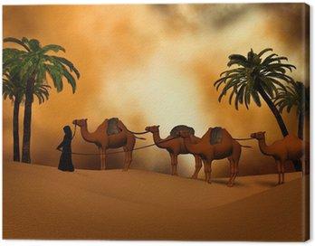 Obraz na Płótnie Camel karawana na pustyni