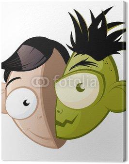 Obraz na Płótnie Cartoon dobre emocje złe samopoczucie