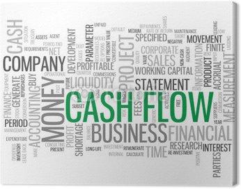 Obraz na Płótnie CASH FLOW Chmura Tag (biznes, finanse oświadczenie pieniądze płynności)