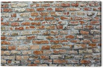 Ceglany mur wyblakły
