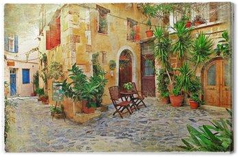 Obraz na Płótnie Chania, urokliwe uliczki starego crete-