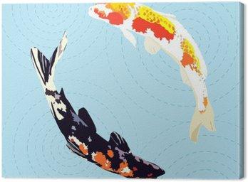 Obraz na Płótnie Chiński karpie, japońskie koi ryb ilustracji wektorowych