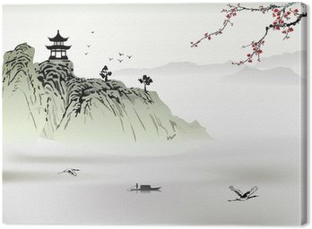Chiński krajobraz, malarstwo