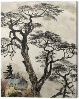 Obraz na Płótnie Chiński krajobraz z drzewa