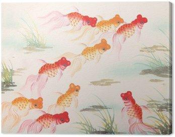 Obraz na Płótnie Chińskie malowanie rybka