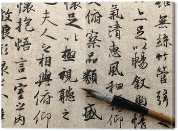 Chińskiej kaligrafii na beżowym tle