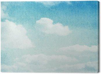 Obraz na Płótnie Chmury i niebo w tle akwarela