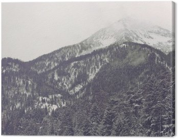 Obraz na Płótnie Chmury się nad odległym szczytem