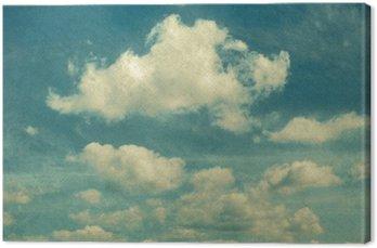 Obraz na Płótnie Chmury w stylu vintage. niebo z chmurami stylizowane na podstawie starych fotografii.