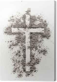 Obraz na Płótnie Christian symbol krzyża wykonany z jesionu