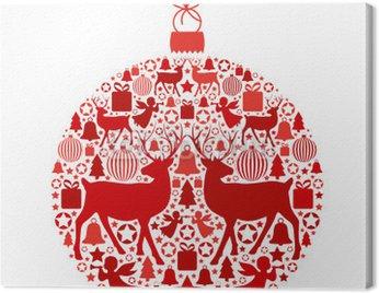 Obraz na Płótnie Christmas ball z bożonarodzeniowe