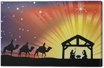 Obraz na Płótnie Chrześcijańska Szopka Boże Narodzenie