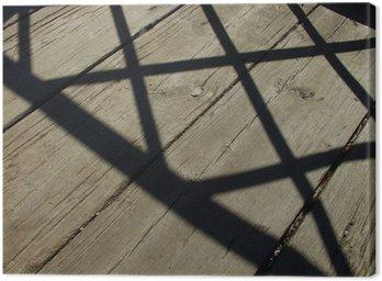 Obraz na Płótnie Cień poręcze na moście