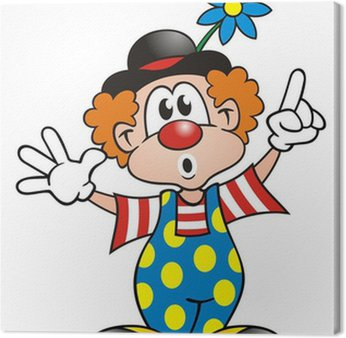 Obraz na Płótnie Clown zdumiony