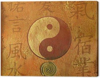 Obraz na Płótnie Collage yin yang
