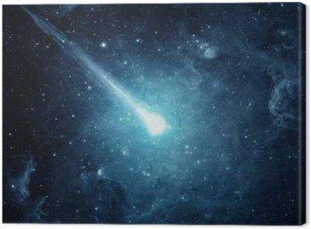 Obraz na Płótnie Comet w rozgwieżdżone niebo. Elementy tego zdjęcia dostarczone przez NASA.