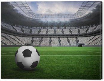Obraz na Płótnie Composite obraz czarno-biały skóry futbolu