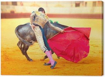 Obraz na Płótnie Corrida. Walka Matador w typowym Walki byków hiszpański