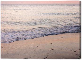 Obraz na Płótnie Coucher de soleil sur la plage