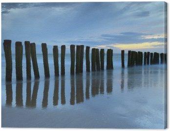 Obraz na Płótnie Crépuscule sur la plage de Calais