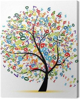 Obraz na Płótnie Cyfrowa drzewa dla projektu