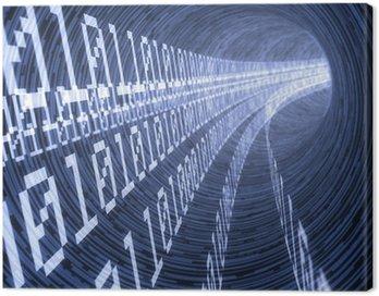 Obraz na Płótnie Cyfrowy tunel