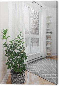 Obraz na Płótnie Cytryna w pokoju z widokiem na spokojną