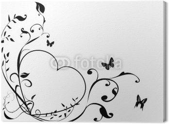 Obraz na Płótnie Czarno-białe serce