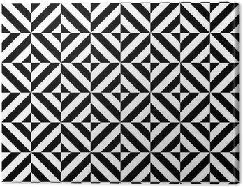 Obraz na Płótnie Czarno-biały powtarzalne geometryczny kształt rombu wzór, wektor