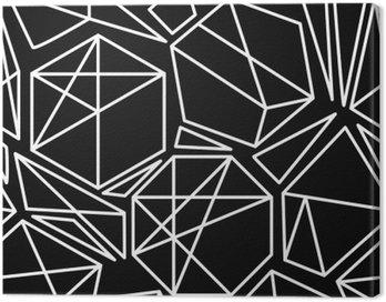 Czarno-biały wektor bez szwu geometryczny wzór