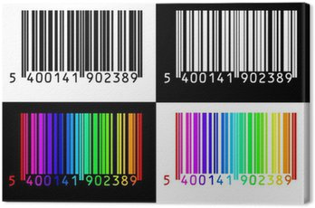 Obraz na Płótnie Czarny, biały i kolorowy kod kreskowy