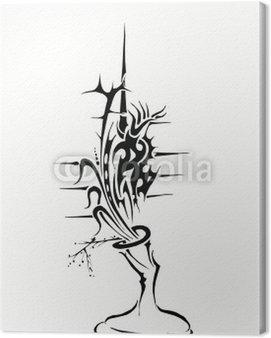 Obraz na Płótnie Czarny ikebana