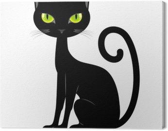 Obraz na Płótnie Czarny kot