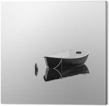 Obraz na Płótnie Czarny łodzią