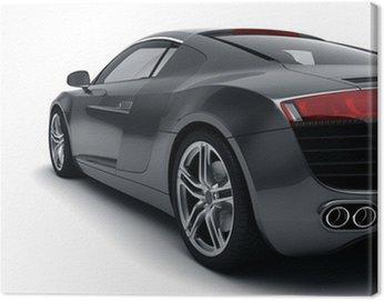 Obraz na Płótnie Czarny samochód sportowy