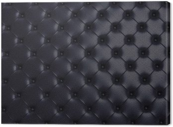 Czarny tekstury skóry pikowane kanapy