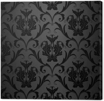 Obraz na Płótnie Czarny wzór tapety powtarzalne