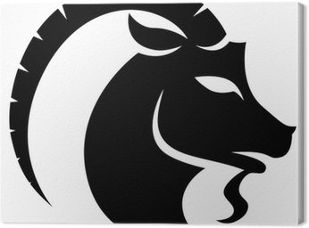 Obraz na Płótnie Czarny Zodiak Znak zodiaku Koziorożec