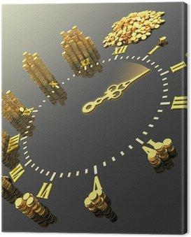 Obraz na Płótnie Czas to pieniądz. Hi-res generowanych cyfrowo obrazu.