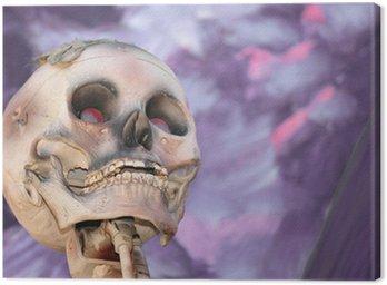 Obraz na Płótnie Czaszka na tle purpurowy