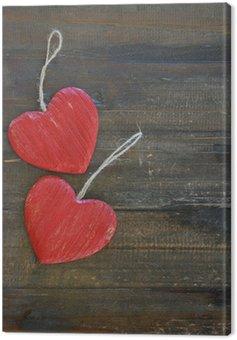 Obraz na Płótnie Czerwone serca, domek umysły